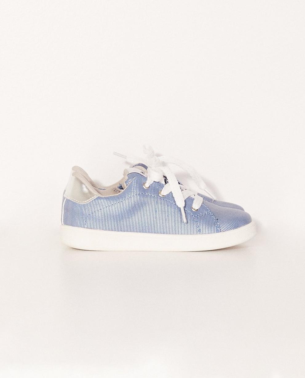 Fein gestreifte Sneaker - mit Aufschrift - Sprox
